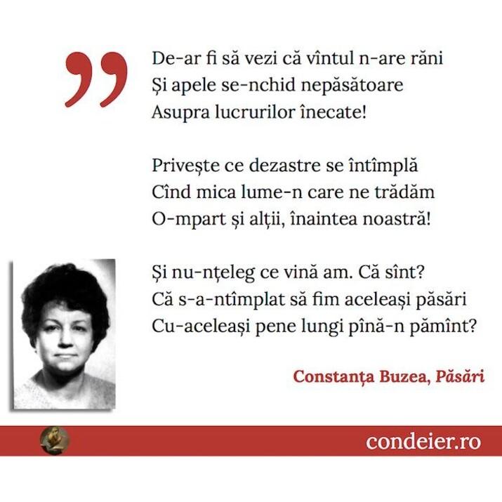 Constanta Buzea Pasari
