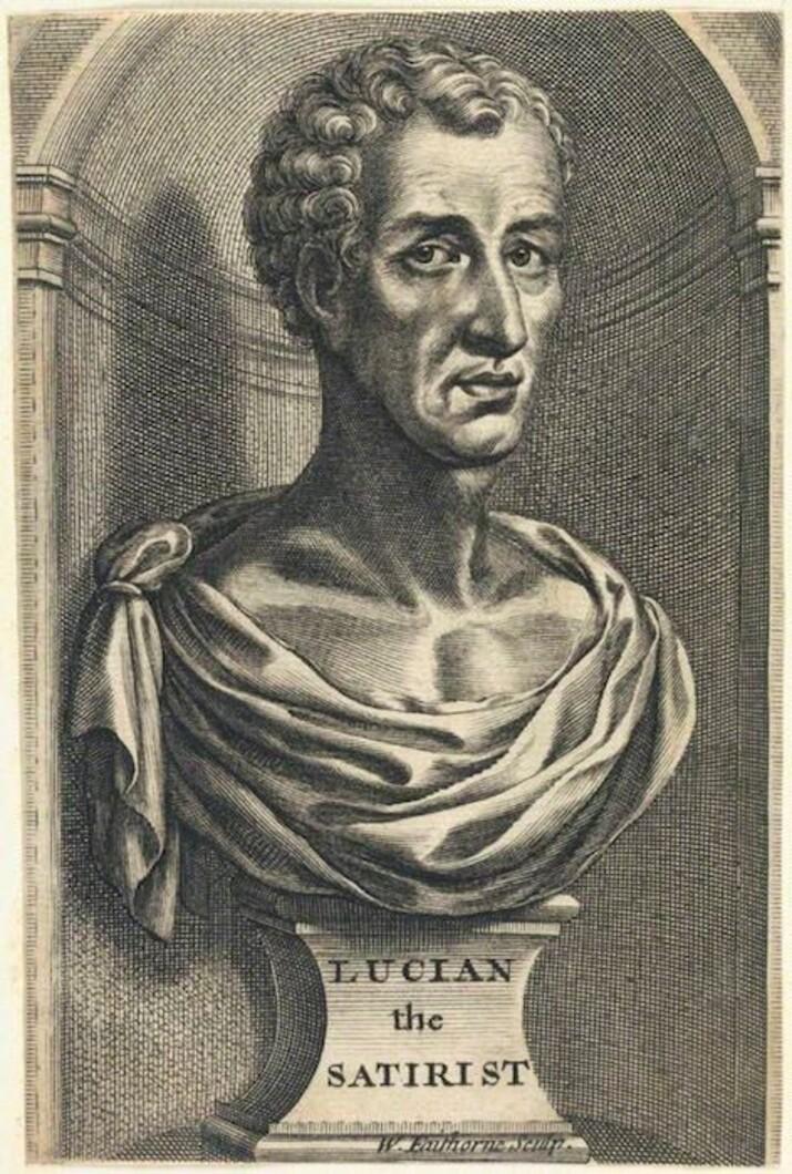 Lucian din Samosata, gravură de William Faithorne