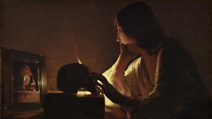 georges de la tour la madeleine au miroir c 1635 1640
