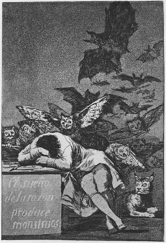 Francisco Goya - Somnul rațiunii naște monștrii